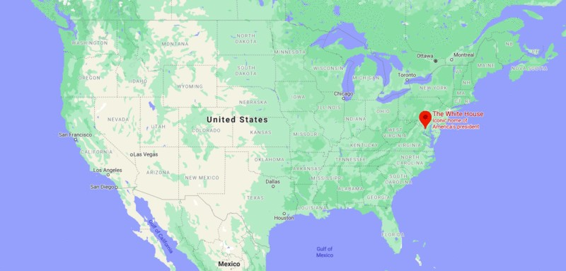 Where is the White House, White House Location Map