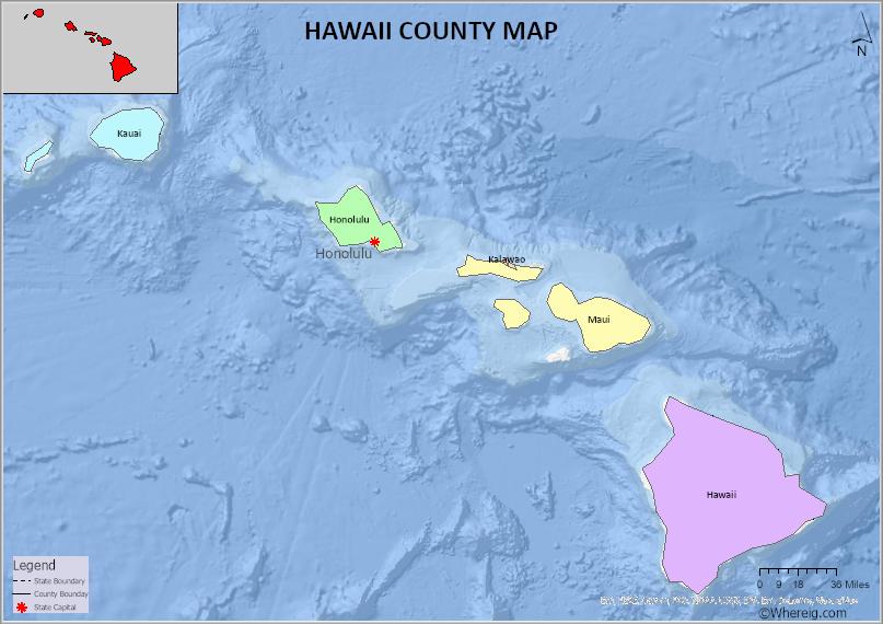 Hawaii County Map