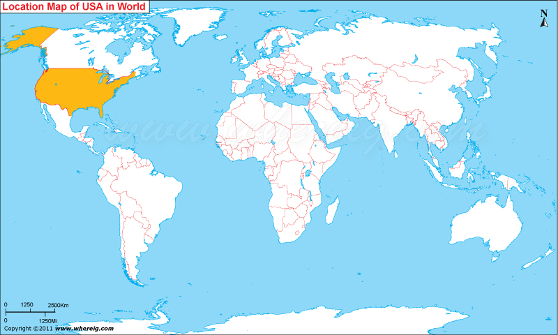 Where is United States of America (USA)