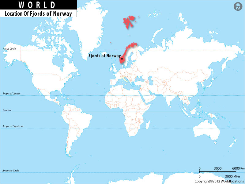 Where Is Fjords Of Norway Located Location Map Of Fjords Norway - Where is norway
