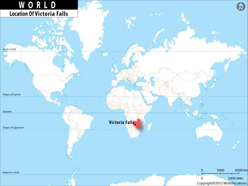 Where is Victoria Falls Located Location of Victoria Falls in